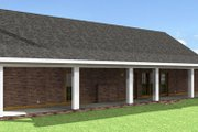 Southern Style House Plan - 4 Beds 3 Baths 1856 Sq/Ft Plan #44-162 Exterior - Rear Elevation