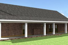 Southern Exterior - Rear Elevation Plan #44-162