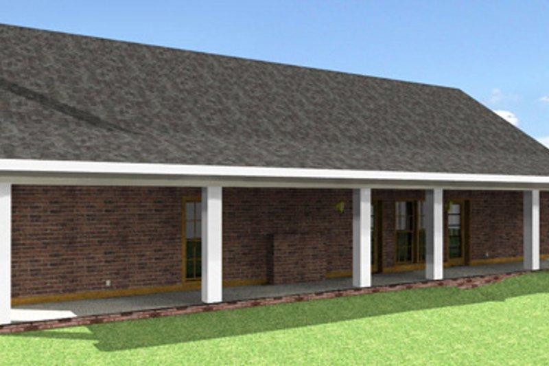 Southern Exterior - Rear Elevation Plan #44-162 - Houseplans.com