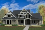 Craftsman Style House Plan - 5 Beds 3.5 Baths 7755 Sq/Ft Plan #920-1 Exterior - Front Elevation