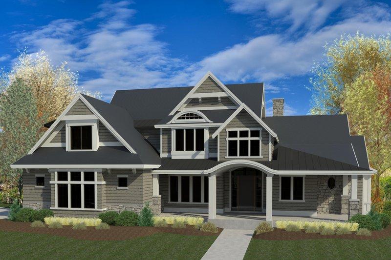Dream House Plan - Craftsman Exterior - Front Elevation Plan #920-1