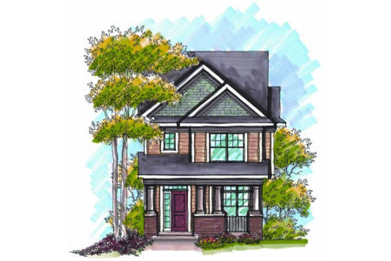 Craftsman Exterior - Front Elevation Plan #70-965