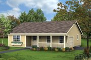 Cottage Style House Plan - 3 Beds 2 Baths 1196 Sq/Ft Plan #57-359 Exterior - Front Elevation