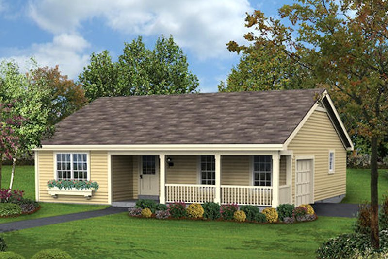 Cottage Style House Plan - 3 Beds 2 Baths 1196 Sq/Ft Plan #57-359