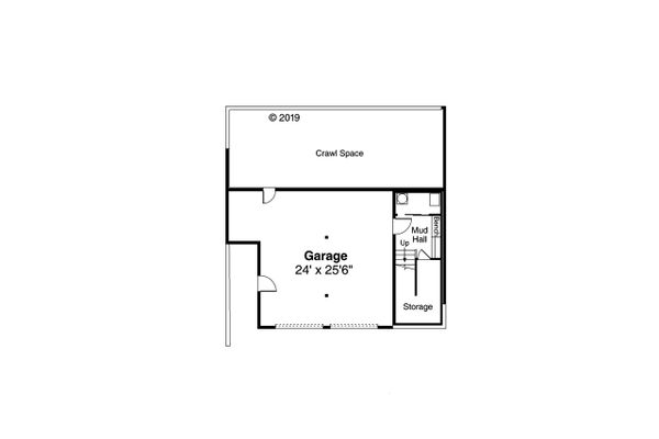 Prairie Floor Plan - Lower Floor Plan Plan #124-1203