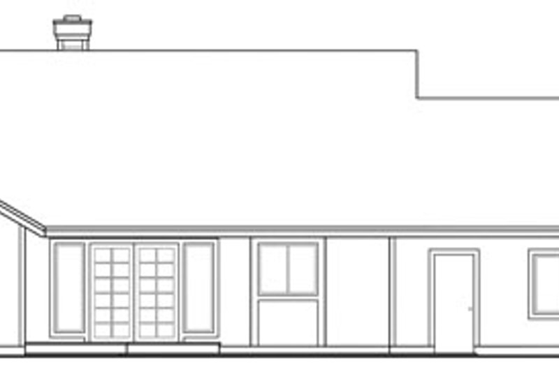 Ranch Exterior - Rear Elevation Plan #124-312 - Houseplans.com