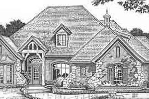 European Exterior - Front Elevation Plan #310-228
