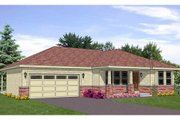 Ranch Style House Plan - 2 Beds 2 Baths 1460 Sq/Ft Plan #116-266 Exterior - Front Elevation