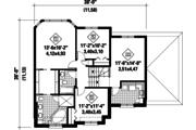 European Style House Plan - 3 Beds 2 Baths 2079 Sq/Ft Plan #25-4376 Floor Plan - Upper Floor Plan