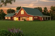 Farmhouse Style House Plan - 3 Beds 2.5 Baths 3754 Sq/Ft Plan #888-1 Exterior - Other Elevation