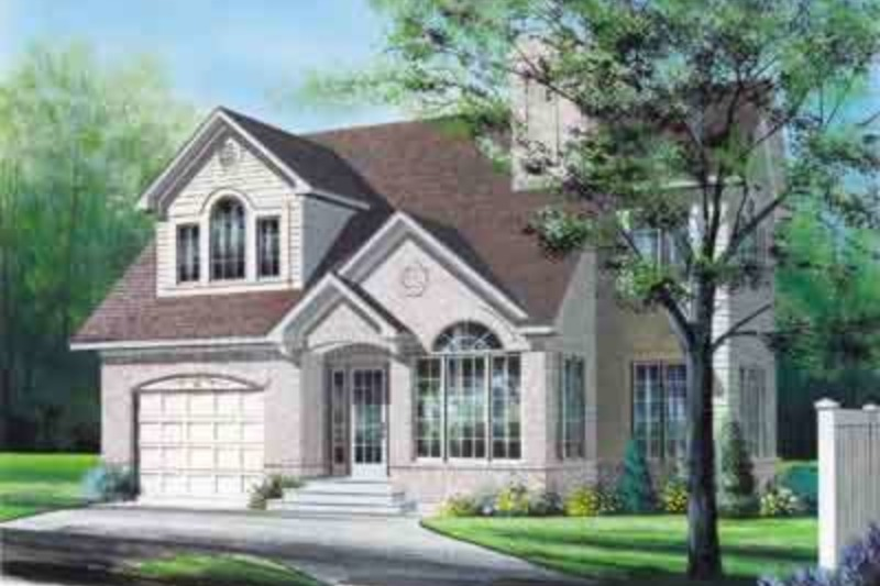 Traditional Exterior - Front Elevation Plan #23-450 - Houseplans.com