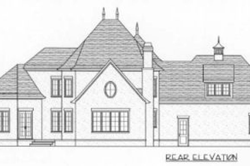 European Exterior - Rear Elevation Plan #413-100 - Houseplans.com