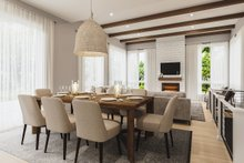 Architectural House Design - Contemporary Interior - Dining Room Plan #23-2727