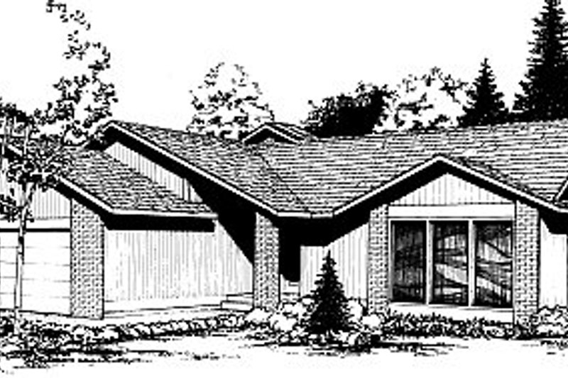 Bungalow Style House Plan - 3 Beds 2 Baths 1657 Sq/Ft Plan #85-104 Exterior - Front Elevation