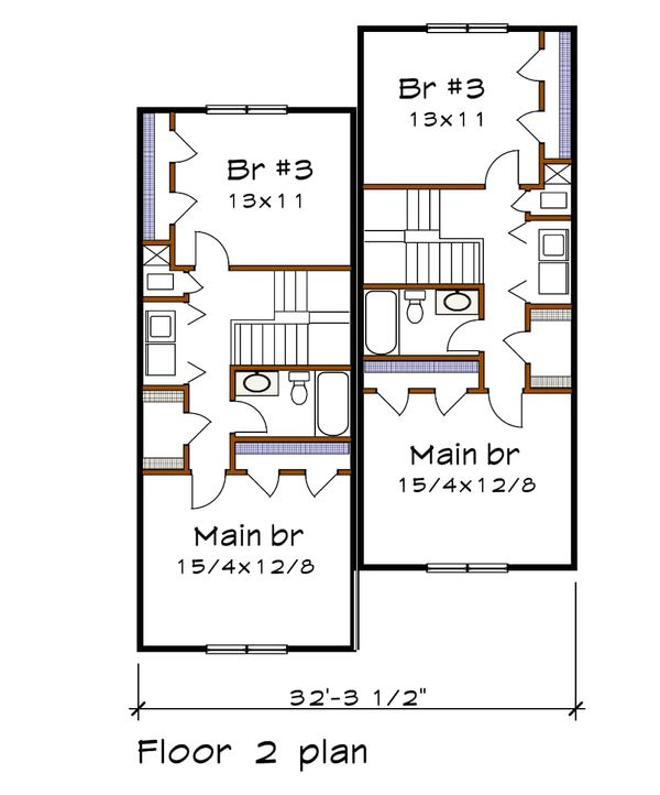 Dream House Plan - Southern Floor Plan - Upper Floor Plan #79-242