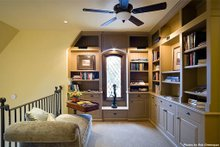 Home Plan - Library - 4000 square foot European home