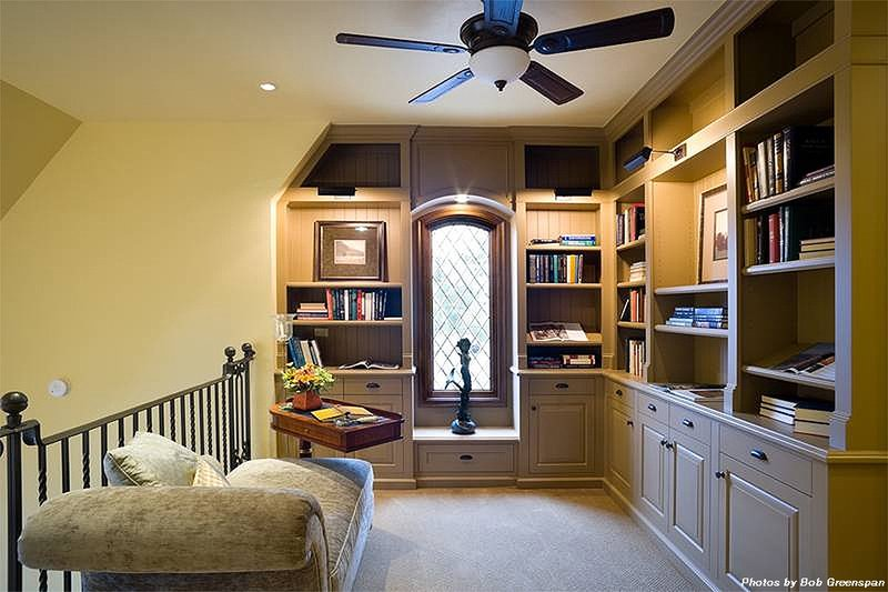 Library - 4000 square foot European home