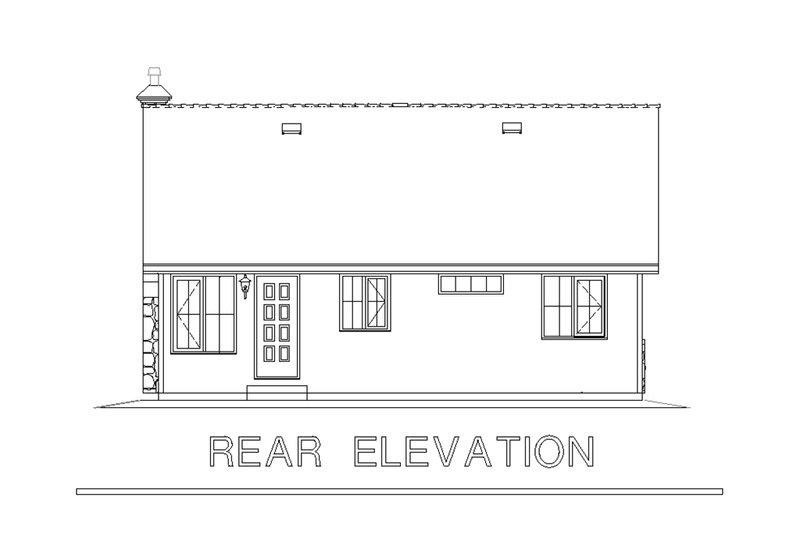 Country Exterior - Rear Elevation Plan #18-1039 - Houseplans.com