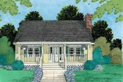 Cottage Style House Plan - 3 Beds 2 Baths 1433 Sq/Ft Plan #75-167 Exterior - Front Elevation