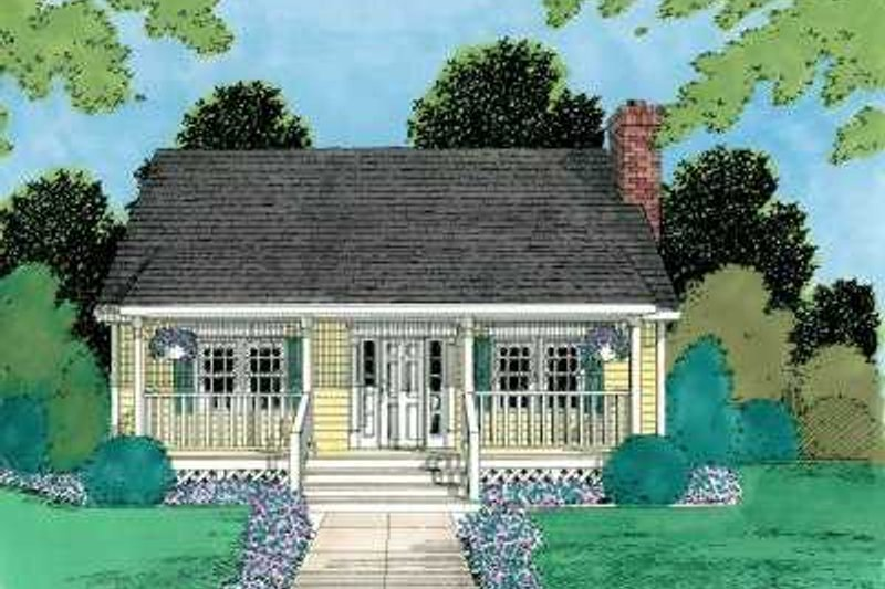 Cottage Style House Plan - 3 Beds 2 Baths 1433 Sq/Ft Plan #75-167