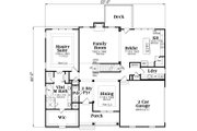 Traditional Style House Plan - 4 Beds 3.5 Baths 3290 Sq/Ft Plan #419-266 Floor Plan - Main Floor Plan