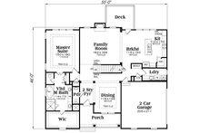 Traditional Floor Plan - Main Floor Plan Plan #419-266