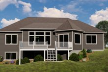 Architectural House Design - Country Exterior - Rear Elevation Plan #1064-69