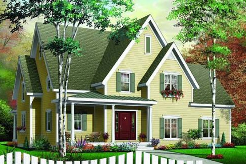 House Plan Design - Country Exterior - Front Elevation Plan #23-336