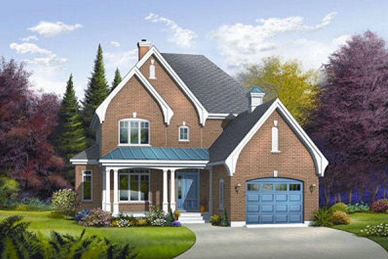 Home Plan - Traditional Exterior - Front Elevation Plan #23-837