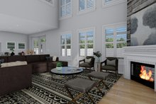 Architectural House Design - Craftsman Interior - Family Room Plan #1060-53