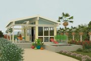 Contemporary Exterior - Front Elevation Plan #917-2