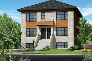 Contemporary Exterior - Front Elevation Plan #25-4548