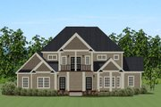 Traditional Style House Plan - 4 Beds 3.5 Baths 3609 Sq/Ft Plan #898-27 Exterior - Rear Elevation