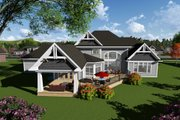 Traditional Style House Plan - 4 Beds 3.5 Baths 5014 Sq/Ft Plan #70-1297 Exterior - Rear Elevation
