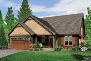 Craftsman Style House Plan - 3 Beds 2.5 Baths 1944 Sq/Ft Plan #48-551 Exterior - Front Elevation