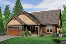 Craftsman Exterior - Front Elevation Plan #48-551