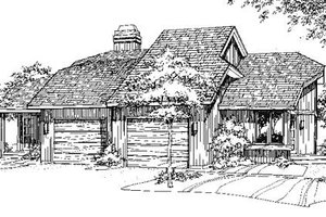 Contemporary Exterior - Front Elevation Plan #320-320