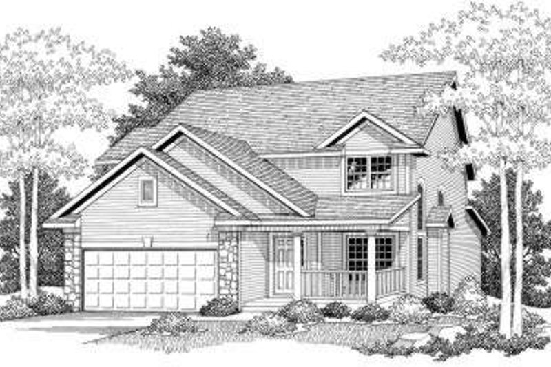 Farmhouse Style House Plan - 3 Beds 2.5 Baths 2349 Sq/Ft Plan #70-578 Exterior - Front Elevation