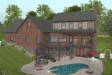 Craftsman Exterior - Rear Elevation Plan #56-586