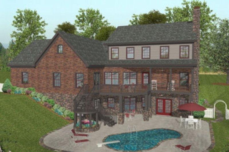 Craftsman Exterior - Rear Elevation Plan #56-586 - Houseplans.com