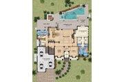 Mediterranean Style House Plan - 4 Beds 5 Baths 4080 Sq/Ft Plan #548-15 Floor Plan - Main Floor Plan