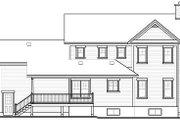 Country Style House Plan - 3 Beds 2.5 Baths 2183 Sq/Ft Plan #23-745 Exterior - Rear Elevation
