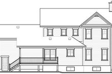 Home Plan - Country Exterior - Rear Elevation Plan #23-745