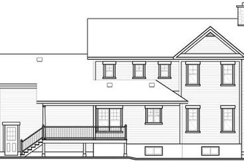 Country Exterior - Rear Elevation Plan #23-745 - Houseplans.com