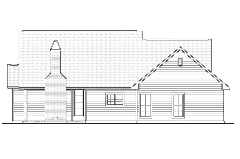 Ranch Exterior - Rear Elevation Plan #430-108 - Houseplans.com