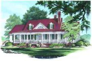 Farmhouse Style House Plan - 4 Beds 3.5 Baths 4227 Sq/Ft Plan #137-190 Exterior - Front Elevation