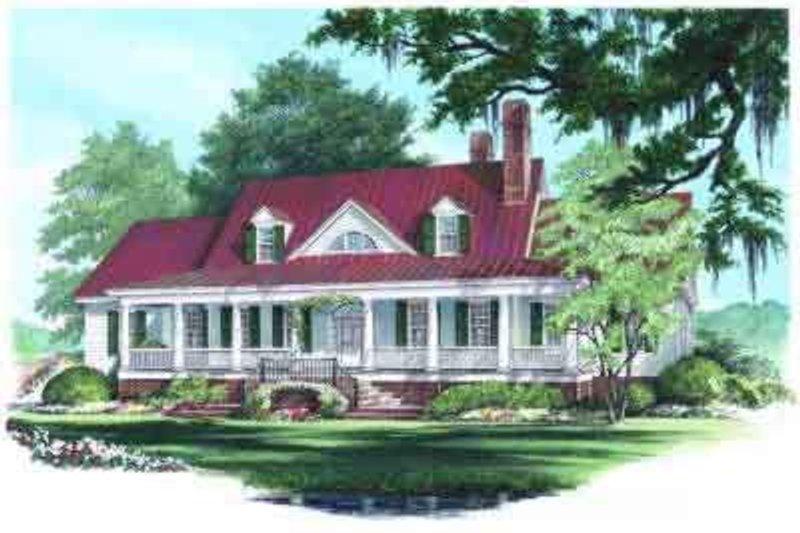 Architectural House Design - Farmhouse Exterior - Front Elevation Plan #137-190