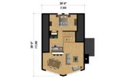 Cabin Style House Plan - 3 Beds 1 Baths 1245 Sq/Ft Plan #25-4586