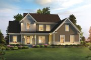 Traditional Style House Plan - 3 Beds 2.5 Baths 2240 Sq/Ft Plan #57-655 Exterior - Front Elevation