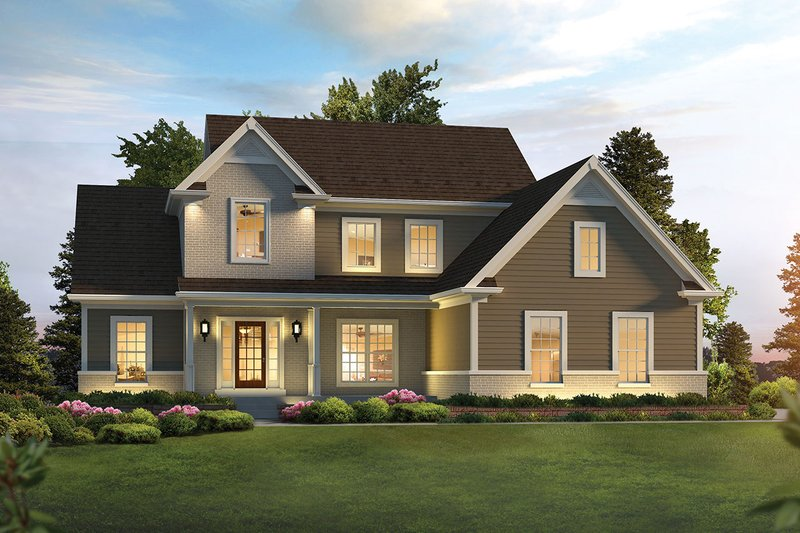 Architectural House Design - Traditional Exterior - Front Elevation Plan #57-655